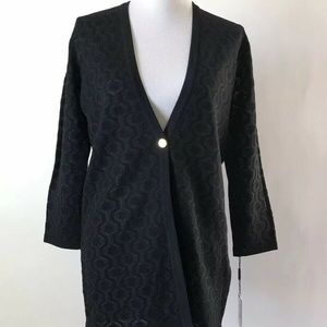 Calvin Klein Print Sweater Cardigan New With Tags